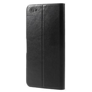 Horse PU kožené puzdro na Xiaomi Redmi Note 5A - čierne - 2
