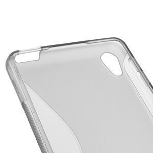 S-line gélový obal pre mobil Sony Xperia E5 - sivý - 2