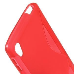 S-line gélový obal pre mobil Sony Xperia E5 - červený - 2