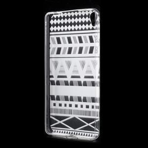 Ultratenký gélový obal pre Sony Xperia E5 - geo tvary - 2