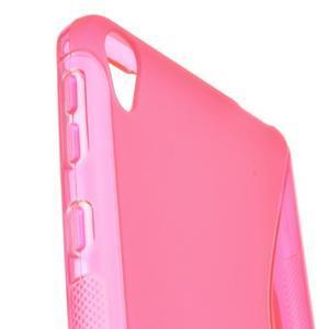 S-line gélový obal na mobil Sony Xperia E5 - rose - 2