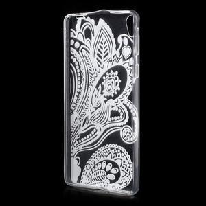 Ultratenký gélový obal na Sony Xperia E5 - květina - 2