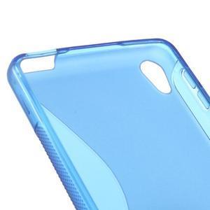 S-line gélový obal pre mobil Sony Xperia E5 - modrý - 2