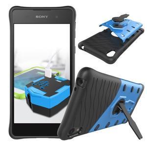 Armory odolný obal so stojanom na Sony Xperia E5 - modrý - 2