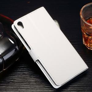 Horss PU kožené puzdro na Sony Xperia E5 - biele - 2