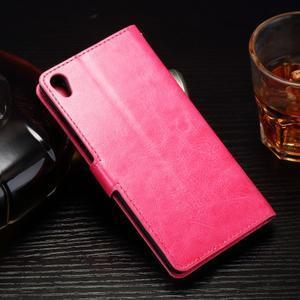 Horss PU kožené puzdro na Sony Xperia E5 - rose - 2