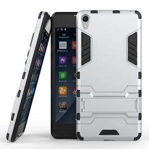 Outdoor odolný obal pre mobil Sony Xperia E5 - strieborný - 2