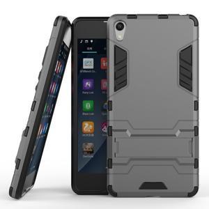 Outdoor odolný obal pre mobil Sony Xperia E5 - sivý - 2