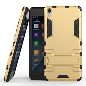 Outdoor odolný obal pre mobil Sony Xperia E5 - zlatý - 2