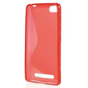 S-line gelový obal na mobil Xiaomi Mi4c/Mi4i - červený - 2