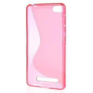 S-line gélový obal pre mobil Xiaomi Mi4c/Mi4i - rose - 2