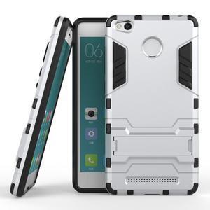 Outdoor odolný obal pre Xiaomi Redmi 3 Pro - strieborný - 2