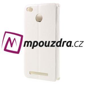 Horn PU kožené puzdro na Xiaomi Redmi 3 Pro - bílé - 2