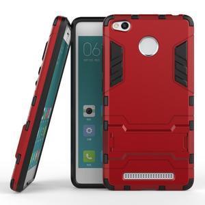 Outdoor odolný obal pre Xiaomi Redmi 3 Pro - červený - 2