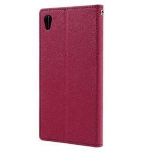 Diary PU kožené puzdro pre mobil Sony Xperia XA Ultra - rose - 2