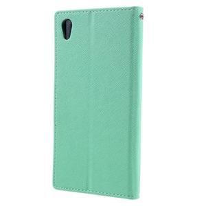 Diary PU kožené puzdro pre mobil Sony Xperia XA Ultra - azurové - 2