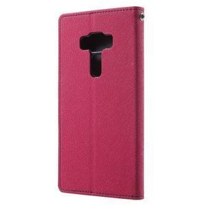 Diary PU kožené puzdro pre mobil Asus Zenfone 3 Deluxe - rose - 2
