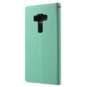 Diary PU kožené pouzdro na mobil Asus Zenfone 3 Deluxe - azurové - 2