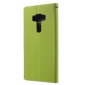 Diary PU kožené puzdro pre mobil Asus Zenfone 3 Deluxe - zelené - 2