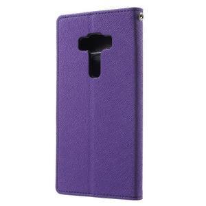 Diary PU kožené puzdro pre mobil Asus Zenfone 3 Deluxe - fialové - 2