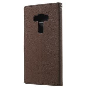 Diary PU kožené puzdro pre mobil Asus Zenfone 3 Deluxe - hnedé - 2