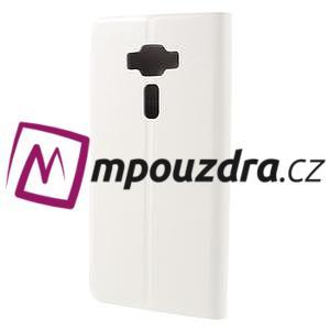 Horse PU kožené puzdro pre Asus Zenfone 3 Deluxe - biele - 2