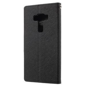 Diary PU kožené puzdro pre mobil Asus Zenfone 3 Deluxe - čierné - 2