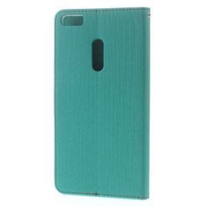 Diary peňaženkové pouzdro na mobil Asus Zenfone 3 Ultra - cyan - 2