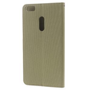Diary peňaženkové pouzdro na mobil Asus Zenfone 3 Ultra - khaki - 2