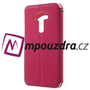 Diary puzdro s okýnkem na mobil Asus Zenfone 3 ZE520KL - rose - 2