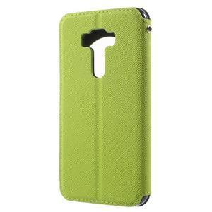 Diary puzdro s okýnkem na mobil Asus Zenfone 3 ZE520KL - zelené - 2