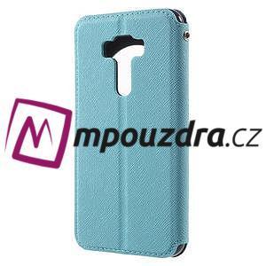 Diary puzdro s okýnkem na mobil Asus Zenfone 3 ZE520KL - světlemodré - 2