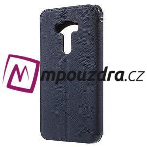 Diary puzdro s okýnkem na mobil Asus Zenfone 3 ZE520KL - tmavěmodré - 2