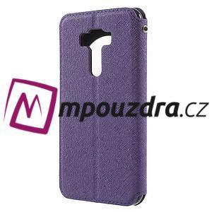 Diary puzdro s okýnkem na mobil Asus Zenfone 3 ZE520KL - fialové - 2
