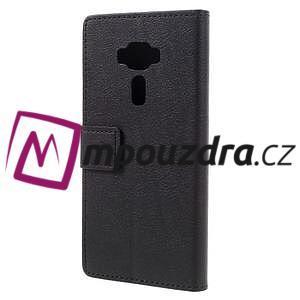Leathy peňaženkové puzdro na Asus Zenfone 3 ZE520KL - čierne - 2