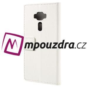 Leathy peňaženkové puzdro na Asus Zenfone 3 ZE520KL - biele - 2
