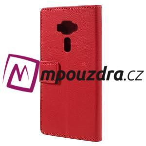 Leathy peňaženkové puzdro pre Asus Zenfone 3 ZE520KL - červené - 2