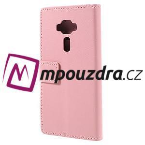 Leathy peňaženkové puzdro na Asus Zenfone 3 ZE520KL - růžové - 2