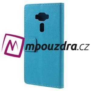 Leathy peňaženkové puzdro pre Asus Zenfone 3 ZE520KL - svetlomodré - 2