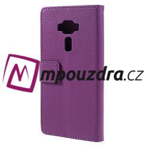 Leathy peňaženkové puzdro pre Asus Zenfone 3 ZE520KL - fialové - 2