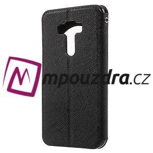 Diary puzdro s okýnkem na mobil Asus Zenfone 3 ZE520KL - čierne - 2