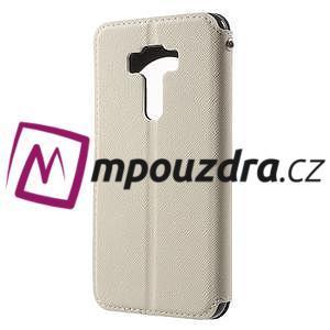 Diary puzdro s okýnkem na mobil Asus Zenfone 3 ZE520KL - biele - 2