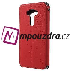 Diary puzdro s okýnkem na mobil Asus Zenfone 3 ZE520KL - červené - 2