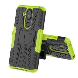 Kick odolný hybridný obal na Nokia 8.1 - zelený - 2