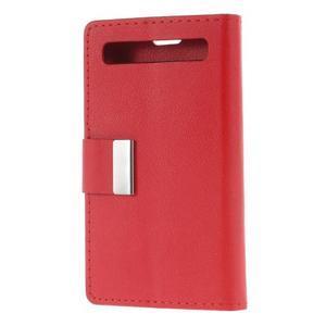 Peňaženkové puzdro pre mobil BlackBerry Classic - červené - 2