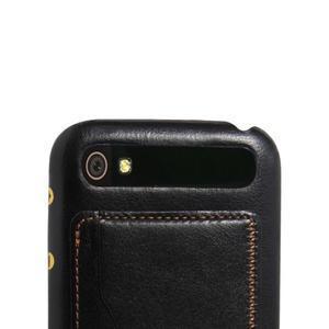 PU kožený kryt se stojánkem na BlackBerry Classic - černé - 2