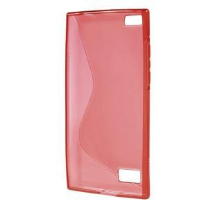 S-line gelový obal na mobil BlackBerry Leap - červený - 2
