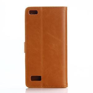 PU kožené peňaženkové puzdro pre BlackBerry Leap - hnedé - 2