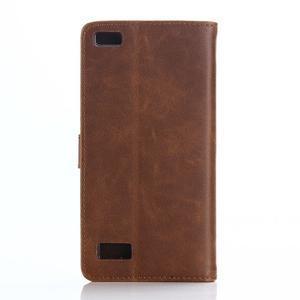 PU kožené peněženkové pouzdro na BlackBerry Leap - coffee - 2