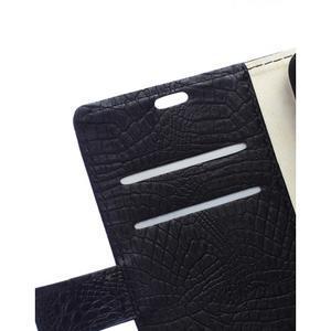 Croco style peňaženkové puzdro pre BlackBerry Leap - čierne - 2